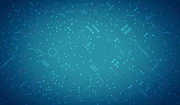 Fundo azul da placa de circuito