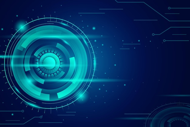 Fundo azul da tecnologia gradiente
