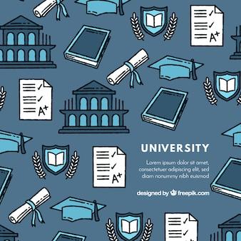 Fundo azul da universidade