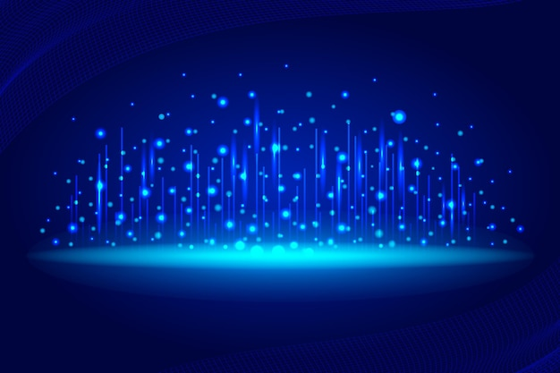 Fundo azul de conexão de rede