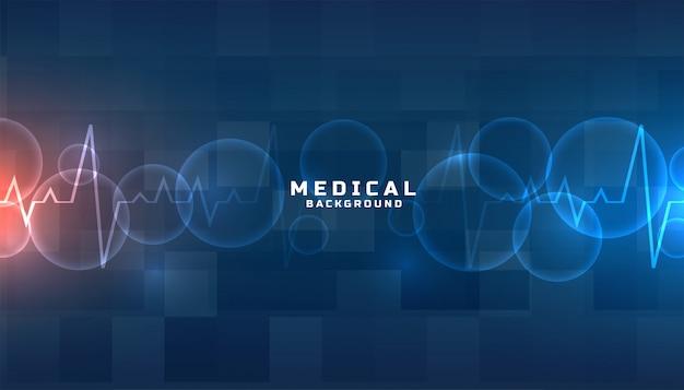 Fundo azul de medicina e saúde