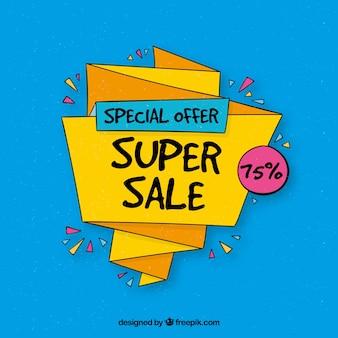 Fundo azul de ofertas especiais