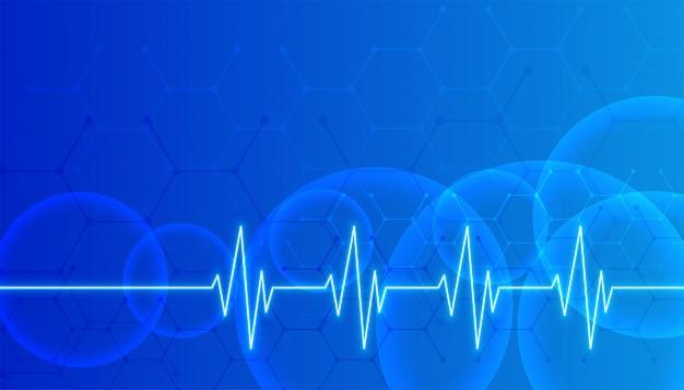 Fundo azul de saúde e ciência médica com espaço de texto
