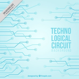 Fundo azul do circuito tecnológico