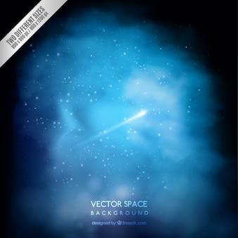 Fundo azul do espaço