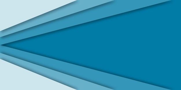 Fundo azul do estilo do corte de papel abstrato.