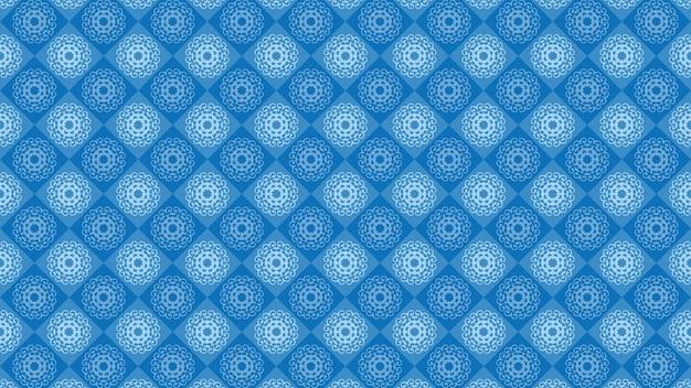 Fundo azul do ornamento do vintage, papel de parede decorativo