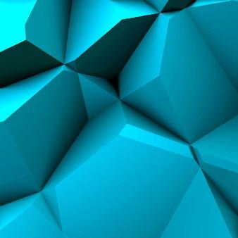 Fundo azul do polígono