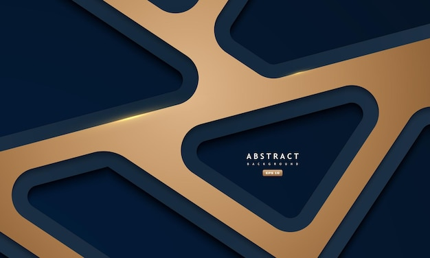 Fundo azul e dourado abstrato com sombra e textura profundas