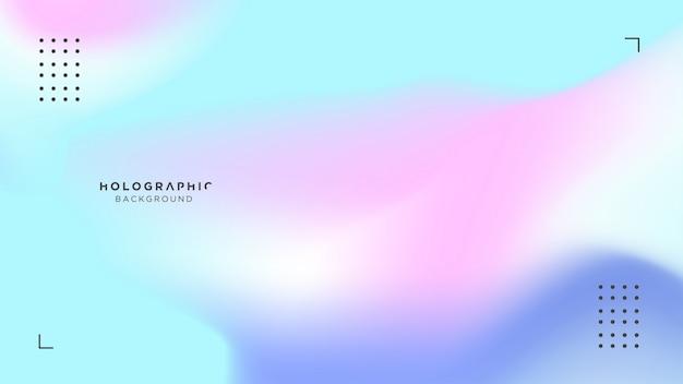 Fundo azul e rosa holográfico