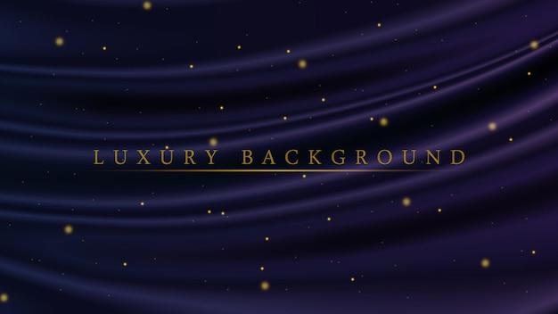 Fundo azul e roxo luxuoso com brilhos dourados para premiação ou cerimônia
