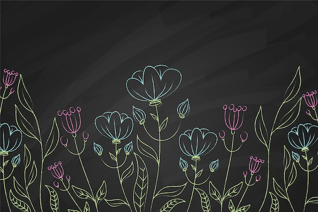 Fundo azul e violeta flores