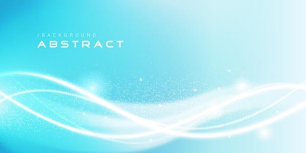 Fundo azul elegante suave com linhas brilhantes