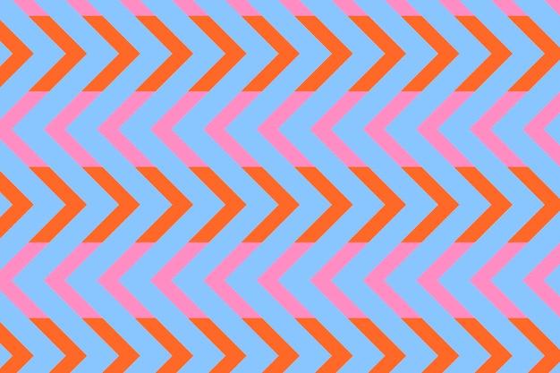 Fundo azul em zigue-zague, vetor de design de padrão criativo
