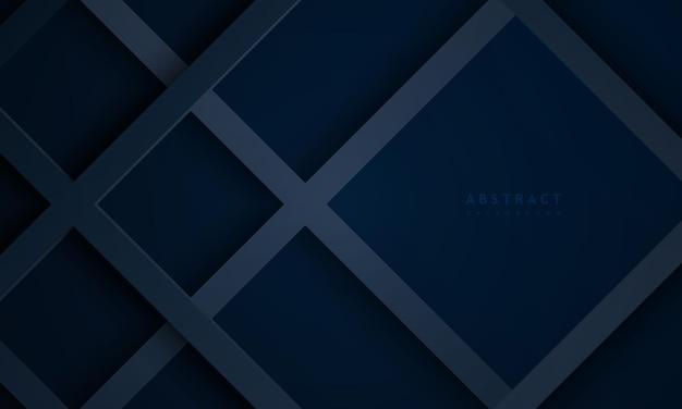 Fundo azul escuro abstrato com tecnologia de fundo de linha texturizada