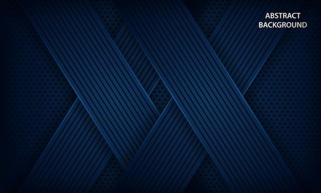 Fundo azul escuro com camadas de sobreposição.