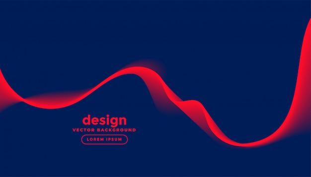 Fundo azul escuro com onda vermelha