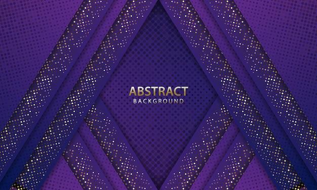 Fundo azul escuro futurista abstrato com glitter. pano de fundo 3d. ilustração vetorial realista.