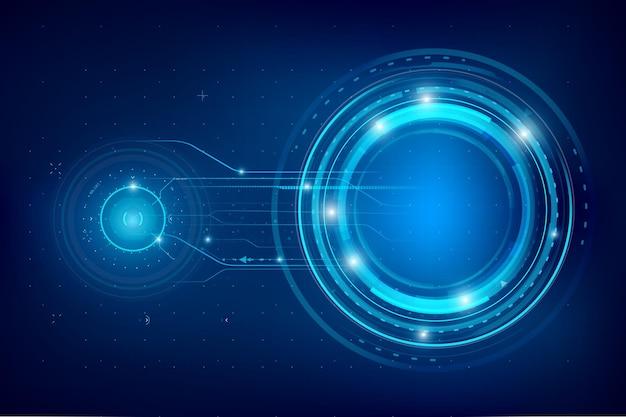 Fundo azul escuro futurista e tecnologia