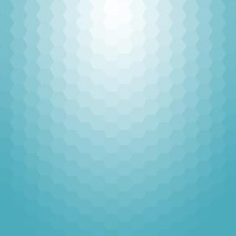 Fundo azul feito de hexágonos
