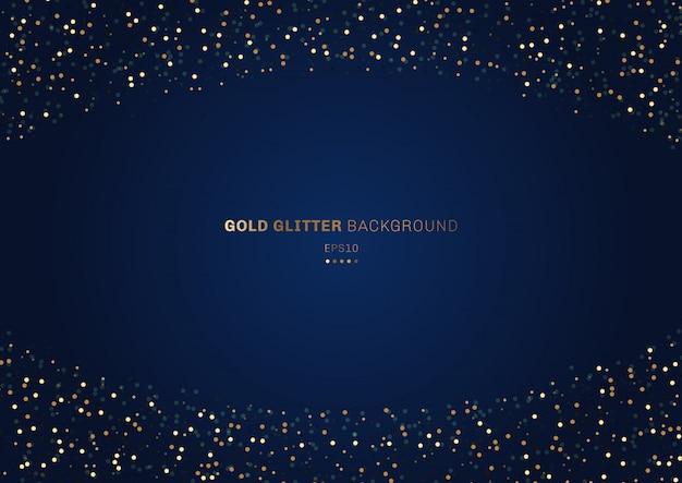 Fundo azul festivo de glitter dourados