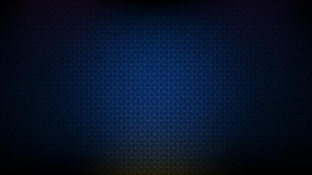 Fundo azul futurista abstrato brilhante estilo de tecnologia de sistema de dados de rede