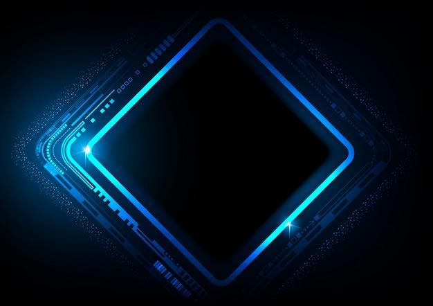 Fundo azul futurista de tecnologia digital