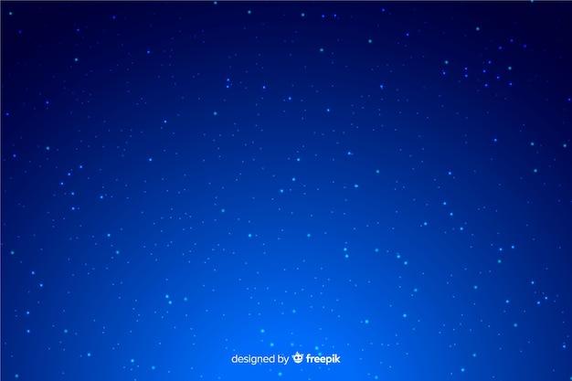 Fundo azul gradiente noite estrelada