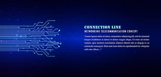 Fundo azul linhas tecnológicas