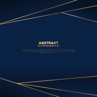 Fundo azul luxo padrão poligonal abstrata
