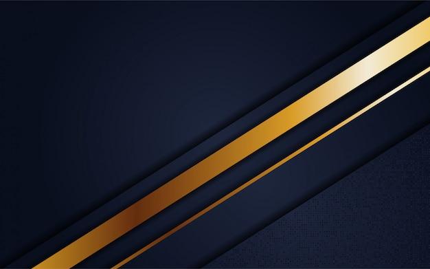 Fundo azul marinho de luxo com linha ouro