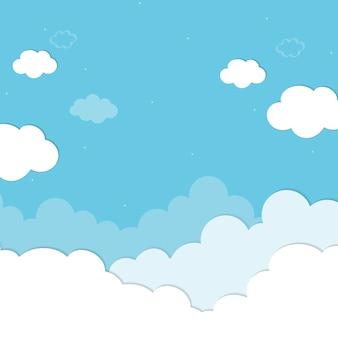 Fundo azul nublado