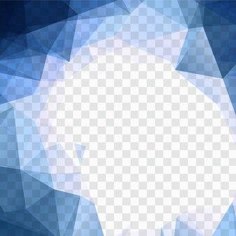 Fundo azul polígono