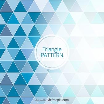 Fundo azul projeto do triângulo