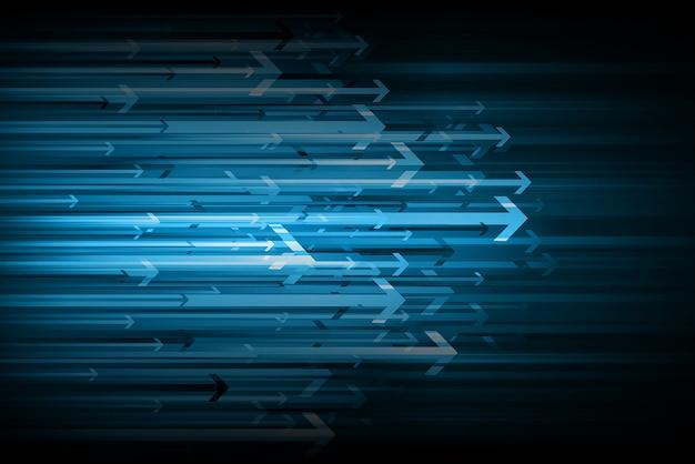 Fundo azul seta luz tecnologia abstrata