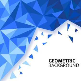 Fundo azul surpreendente com formas poligonais
