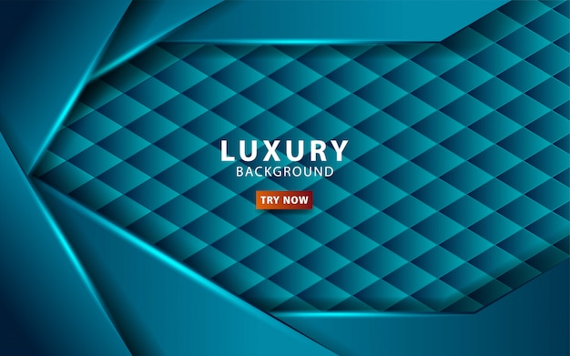 Fundo azul tecnologia abstrata de luxo com linha azul. sobreposição de camadas com efeito de papel. modelo digital. efeito de luz realista no plano de fundo texturizado hexágono. .