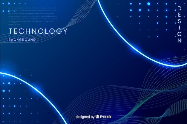 Fundo azul tecnologia abstrata