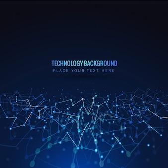 Fundo azul tecnologia brilhante