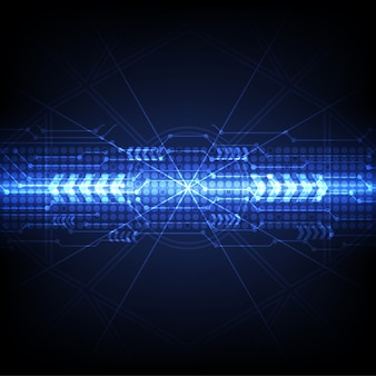 Fundo azul tecnologia futurista digital