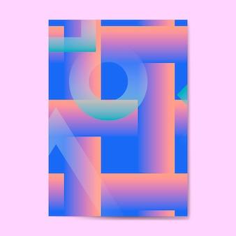 Fundo azul vibrante
