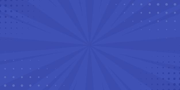 Fundo azul vintage pop art. ilustração vetorial de banner