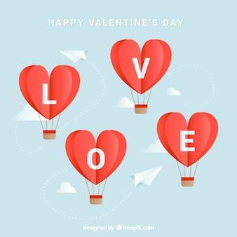 Fundo balão em forma de coração