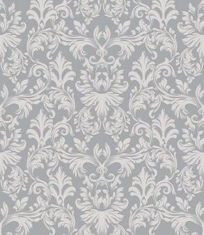 Fundo barroco do teste padrão do ornamento do vetor. textura de tecido de decoração com estilo vintage e rica