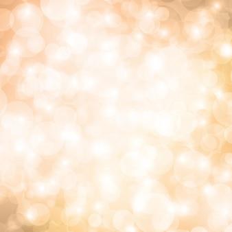 Fundo bege de bokeh. cenário festivo cintilante. design para cartões de natal. é luzes desfocadas. ilustração abstrata do vetor.