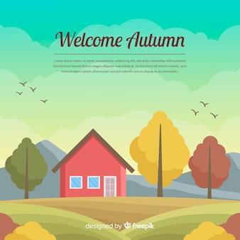 Fundo bem-vindo outono