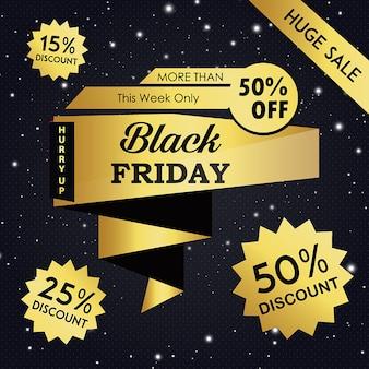 Fundo black friday sexta-feira
