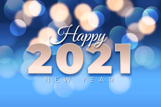 Fundo bokeh de ano novo