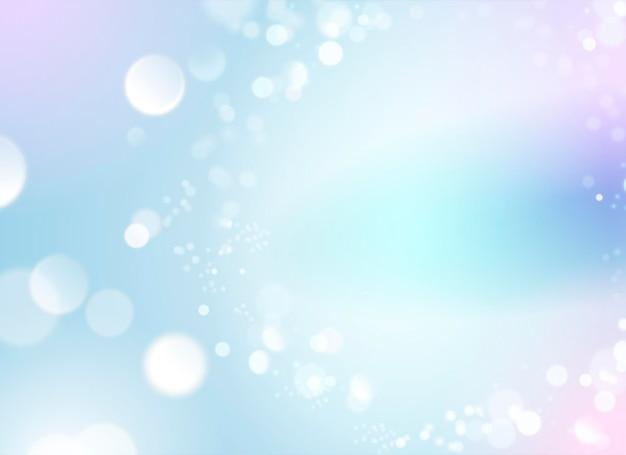 Fundo bokeh de sonho, pano de fundo colorido brilhante com elemento de partículas