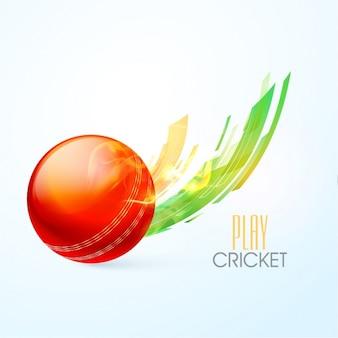 Fundo bola de críquete
